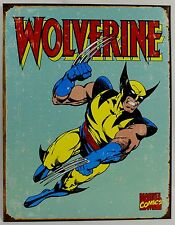 WOLVERINE METAL SIGN Marvel Comics Superhero NEW Vintage Reproduction Tin USA