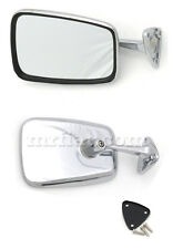 Fiat 850 124 Spider Chrome Side View Mirror Trapezoid New