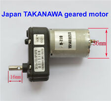 DC 6 12 24V Japan TAKANAWA Full Metal Gear Motor DC Geared Motor Generator