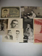 VINTAGE UNITED STATES COAST GUARD MARINES PHOTO ID DOCUMENT AND PHOTO LOT GROUP