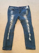 Charlotte Russe Ripped Denim Jeans Plus Size 19/20