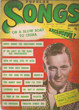 POPULAR SONGS Magazine January 1949 Bill Holden cover