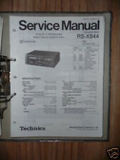Service MANUAL TECHNICS rs-x844 cassette deck, ORIGINALE