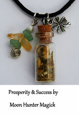 Prosperity Money Spell Charm Necklace© 20+years exp. Pagan Lot Wiccan Witch