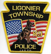 "Ligonier Township  K-9, PA  (4"" x 4"" size) shoulder police patch (fire)"