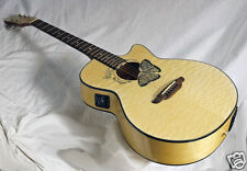 Beautiful Quilt Spruce Top Luna Buttterfly Inlaid Koa Awesome looks Great Sound