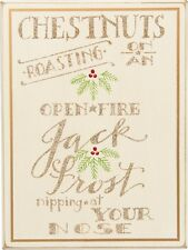"""Primitive Wood Sign~""""Chestnuts Roasting On Open Fire Jack Frost Nipping At Nose"""""""