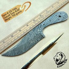CUSTOM HANDMADE DAMASCUS BLANK BLADE HUNTING KNIFE | TWIST PATTERN DAMASCUS 1144