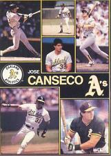 1990 Starline JOSE CANSECO A's Monster Poster MINI PromoPiece RARE
