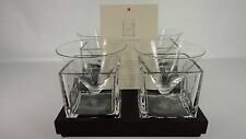 RED ENVELOPE NINE (9) PC CUBIST MARTINI SET OF FOUR (4) GLASSES WITH RECIPE CARD