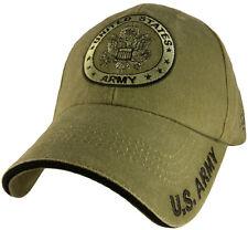 U.S. Army Insignia Hat / OD Green Baseball Cap 5599