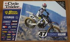 2016 Tommy Hahn signed Cycle Trader Yamaha YZ450F Supercross Motocross poster