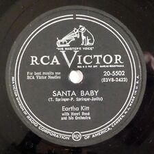 EARTHA KITT Santa Baby RCA 78 christmas xmas