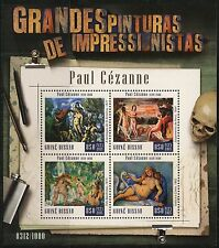 GUINEA BISSAU  2016 GREAT IMPRESSIONIST PAINTERS PAUL CEZANNE SHEET  MINT NH