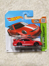 PORSCHE 911 GT3 RS IN RED S 16 NO 196 HOT WHEELS MINT IN BOX ON SHORT CARD