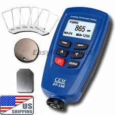 US Ship DT-156 CEM Paint Coating Thickness Meter Gauge Auto F NF Probe V-groove