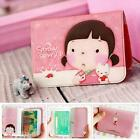 Plastic 12 Slots Cute Cards Coin Case Pouch Keeper Purse Wallet Holder Organizer