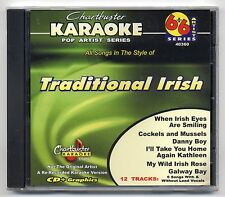 CHARTBUSTER KARAOKE CB-40360 TRADITIONAL IRISH, NEW 6+6 ARTIST SERIES CD+G, OOP