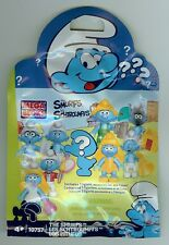 Mega Bloks Smurfs BRAINY Smurf Action Figure NIP Blind Pack Blocks