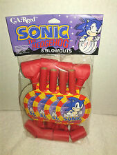 Sega Genesis SONIC THE HEDGEHOG Birthday Party Blowouts 1993 Factory Sealed RARE
