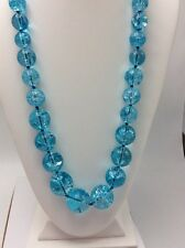 $98 Kate Spade Light The Sparklers Long Blue Beaded Necklace 10-5