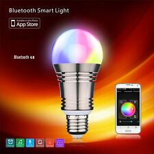 6W LED RGB Bulb Light E27 Bluetooth WiFi Wireless Control Smart Music Audio Lamp