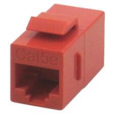 RJ45 Cat5e Female to Female Coupler UTP Ethernet Keystone Jack Red