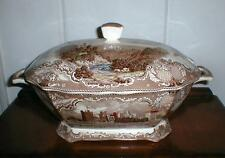 JOHNSON BROTHERS OLD BRITISH CASTLES LARGE SOUP TUREEN BROWN MULTI COLOR