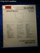 Sony Service Manual KE 42TS2E Color TV (#4883)