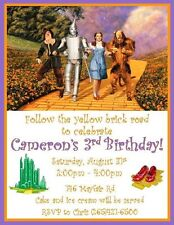 12 Custom Wizard of Oz Inspired Birthday Invitations ~ 5 Different Styles