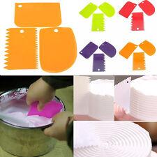 3PCS Plastic Baking Dough Pastry Fondant Icing Scraper Cake Decorating Tools