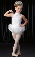 Snowflake Dance Costume and Tiara Tap Dress Christmas Clearance Child X-Small