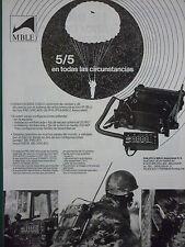 1/1986 PUB MBLE PHILIPS RADIO MILITAIRE PRC/VRC-600 621 ARMEE BELGE SPANISH AD