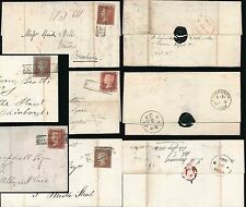 PENNY REDS 1854-7 SCOTS LOCALS USED as CANCEL..STREETS INDIA LONDON DUKE HANOVER
