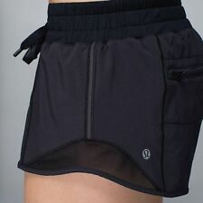 Lululemon Hotty Hot Short Black Speed Turbo Yoga Shorts Mesh Size 8 New