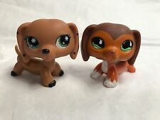 Lot of 2 Littlest Pet Shop Daschund dogs