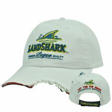 Landshark White Cap Hat Adjustable Shark Bite Fins Up Margaritaville - New & F/S