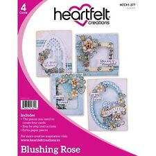 """New Heartfelt Creations """"Limited Edition""""-BLUSHING ROSE 4 Card Kit-HCCK1-377"""