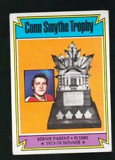 1973 - 1974 Topps Hockey Set BERNIE PARENT CONN SMYTHE TROPHEY Card