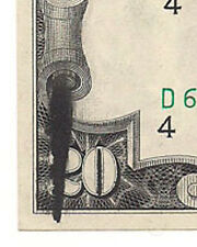 New listing U.S. - Series of 1974 $20.00 Federal Reserve Note (Large Ink Stain on Front)