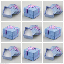 Wholesale lot 24 PCS Jewelry Gift Blue Box Display New Fashion For Ring Earring