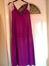 LYS LOVE YOUR SIZE PLUS WOMANS 2X PURPLE LACE BACK SUMMER TANK DRESS  NWT