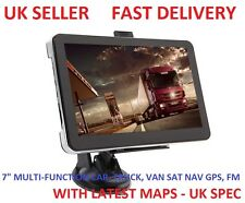 "UK WIDE 7"" HD CAR TRUCK LORRY VAN SAT NAV GPS Navigation SpeedCam Navigator 8GB"