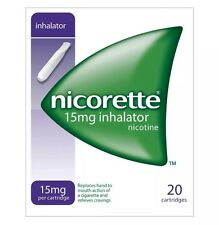 6 Packs of Nicorette 15mg Inhalator 20 Cartridges # Free Postage#Fast #