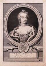 Kaiserin Maria Theresia, Kupferstich von P. Tanje nach J. Schell, 1745