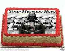 Star Wars Darth Vader Cake topper edible digital image icing  REAL FONDANT