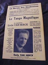 Partition Le tango magnifique de Emile Van Herck