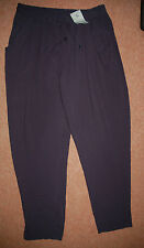 NEW! Sz 12 Navy Bags Harem Trousers Drawstring Elastic Waist Summer holiday Cool