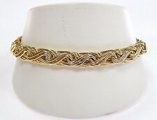 "NWT New With Tags $749 14K Yellow Gold Fancy Woven Bracelet 7.5"" 14kt Free Ship!"