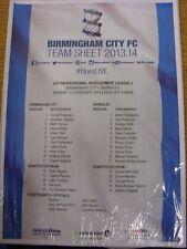 17/02/2014 Birmingham City u21 V Barnsley u21 (colore singolo foglio). grazie per